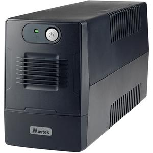 Unitate UPS MUSTEK 800-LED-LIG-T10, 850VA, 2 x Schuko, negru