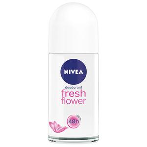 Deodorant roll-on antiperspirant NIVEA Fresh Flower, pentru femei, 50 ml