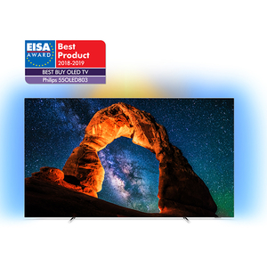 Televizor OLED Smart 4K Ultra HD, 139cm, Android, Ambilight, PHILIPS 55OLED803/12
