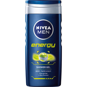 Gel de dus 3 in 1 NIVEA Men Energy, Mint extract, 250ml
