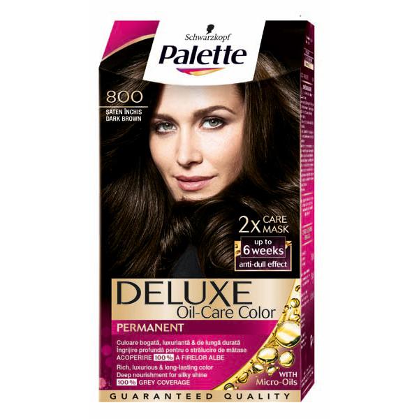 Vopsea de par PALETTE Deluxe, 800 Saten Inchis, 115ml
