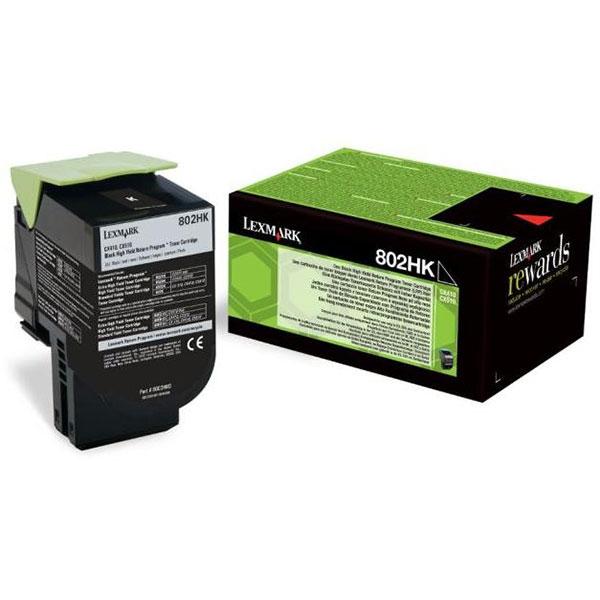 Toner LEXMARK XL 80C2HK0 802HK Return Program, negru