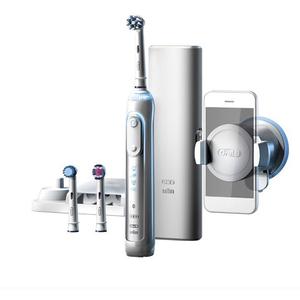 Periuta de dinti electrica ORAL-B Genius 8000, Curatare 3D, Bluetooth, 5 programe, 40000 pulsatii/min, 3 capete, alb + Etui calatorie