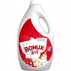 Detergent lichid BONUX Magnolia, 35 spalari