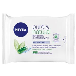 Servetele demachiante NIVEA Pure&Natural, pentru toate tipurile de ten, 25buc