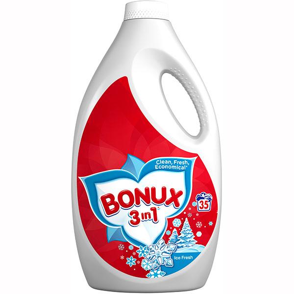Detergent lichid BONUX Ice Fresh, 35 spalari