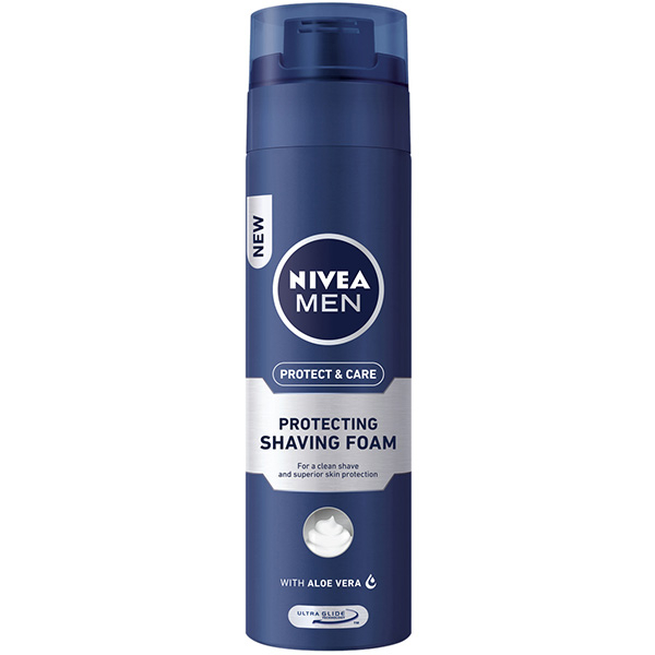 Spuma de ras pentru ten normal NIVEA Men Protect&Care, 200ml
