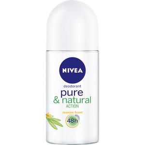 Deodorant roll-on antiperspirant NIVEA Pure & Natural, pentru femei, 50 ml