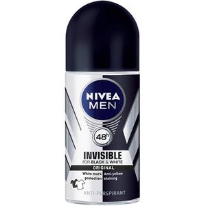 Deodorant roll-on antiperspirant NIVEA Men Invisible for Black & White, 50 ml