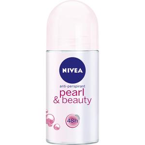 Deodorant roll-on antiperspirant NIVEA Pearl & Beauty, pentru femei, 50 ml
