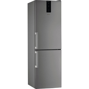 Combina frigorifica WHIRLPOOL W7 821O OX H, Total No Frost, 338 l, H 189 cm, Clasa A++, 6th Sense, argintiu