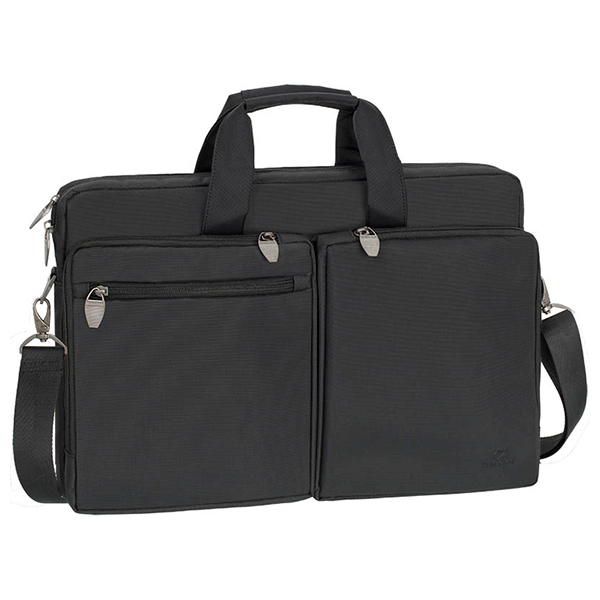 "Geanta laptop RIVACASE 8550, 17.3"", poliester, negru"