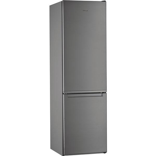 Combina frigorifica WHIRLPOOL W7 911I OX, Total No Frost, 368 l, H 201 cm, Clasa A+, 6th Sense, inox