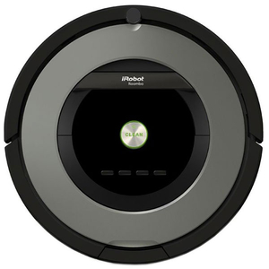 Aspirator robot IROBOT Roomba 866, Wall Follow, Program SPOT, negru-gri