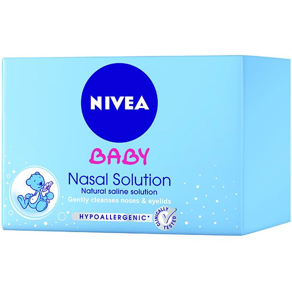 Solutie nazala sterila NIVEA Baby, 5 ml x 24 buc