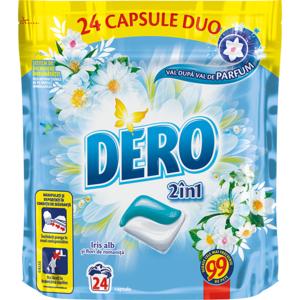 Detergent capsule DERO Iris alb, 24 capsule