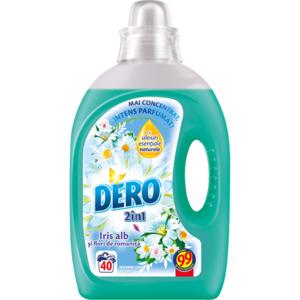 Detergent lichid DERO Iris Alb, 2l, 40 spalari