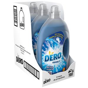 Pachet Detergent lichid DERO Ozon+ Briza Marii, 3x3l, 180 Spalari