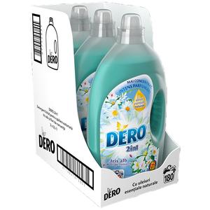 Pachet Detergent lichid DERO 2in1 Iris Alb, 3x3l, 180 Spalari