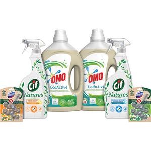 Pachet detergenti pentru curatenia casa OMO + DOMESTOS + CIF, 6 bucati