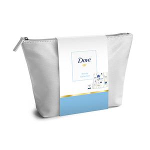 Set cadou DOVE Beauty Collection: Gel de dus, 250ml + Lapte de corp, 250ml + Sapun, 100g + Deodorant spray, 150ml + Sampon, 250ml
