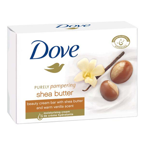 Pachet DOVE Crema Shea Butter: Sapun, 4 x 100g