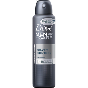 Deodorant spray antiperspirant DOVE Men+Care Silver Control, pentru barbati, 150ml