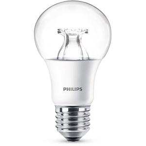 Bec LED PHILIPS CRISTAL A60, 8.5W(60W), E27, Putere reglabila