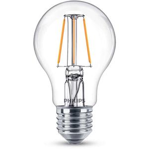 Bec LED PHILIPS FILAMENT A60, 4W (40W), E27, Lumina Calda
