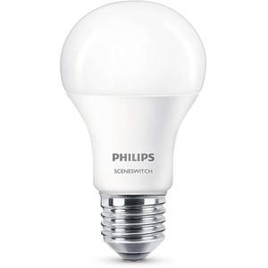 Bec LED PHILIPS SSW A60, 9.5W(60W), E27, 2 teme de culoare