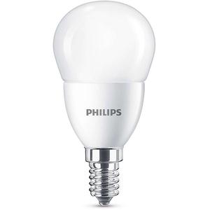 Bec LED PHILIPS P45, 7W (60W), E14 Lumina Calda