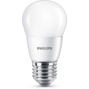 Bec LED PHILIPS P45, 7W (60W), E27, Lumina Rece