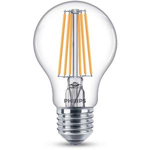 Bec LED PHILIPS FILAMENT A60, 8W (75W), E27, Lumina Calda