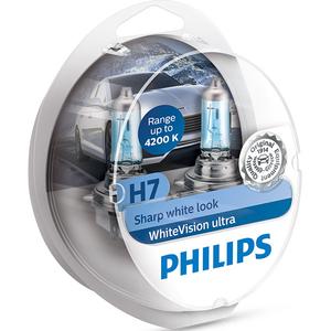 Bec auto PHILIPS White Vision Ultra, 55W, 12V, H7, 2 buc