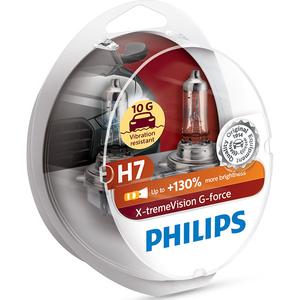 Bec auto PHILIPS Xtreme Vision, 55W, 12V, H7, 2 buc