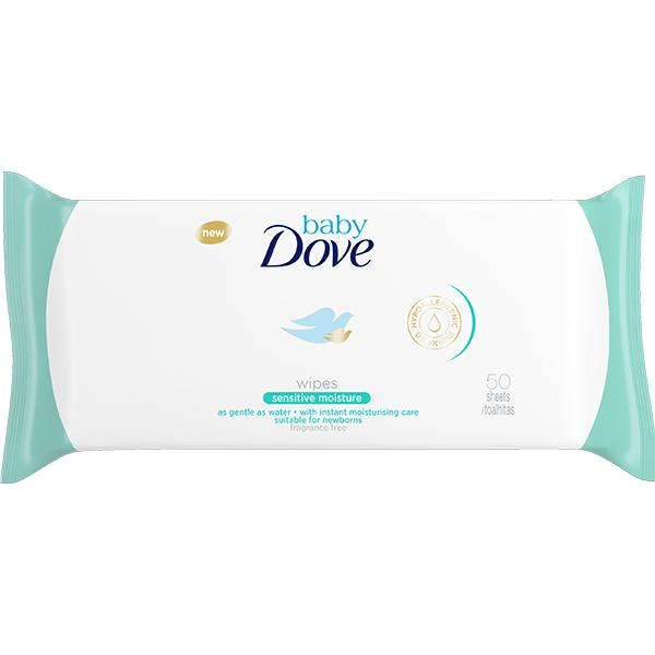 Servetele umede DOVE Baby Sensitive Moisture, 4 pachete, 200 buc
