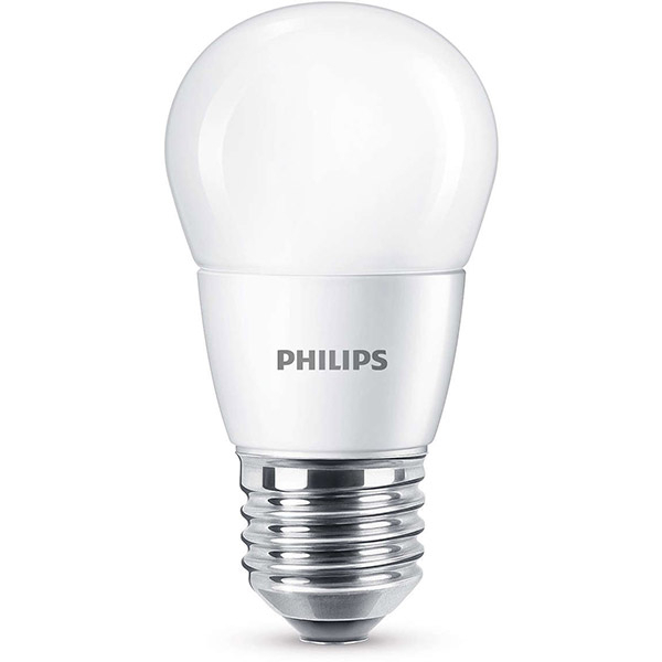 Bec LED PHILIPS P45, 7W (60W), E27, Lumina Calda