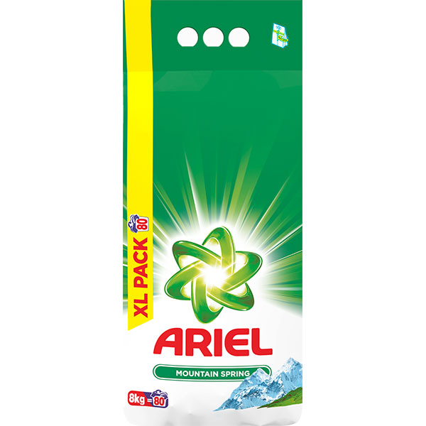 Detergent automat ARIEL Mountain Spring, 8kg