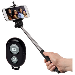 Selfie stick cu telecomanda HAMA 136496 Moments 100, Bluetooth, negru