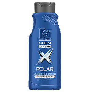 Gel de dus 2 in 1 FA Men Xtreme Polar, 400ml