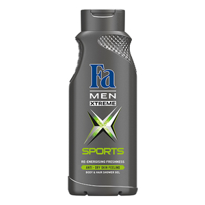 Gel de dus 2 in 1  FA Men Xtreme Sport, 400ml
