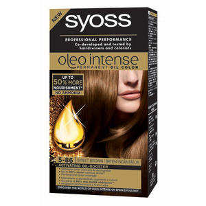 Vopsea de par SYOSS Color Oleo, 5-86 Saten Incantator, 115ml