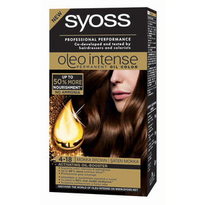 Vopsea de par SYOSS Color Oleo, 4-18 Saten Mokka, 115ml