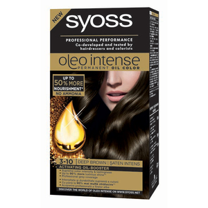 Vopsea de par SYOSS Color Oleo, 3-10 Saten Intens, 115ml