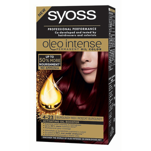 Vopsea de par SYOSS Color Oleo, 4-23 Roscat Burgundy, 115ml