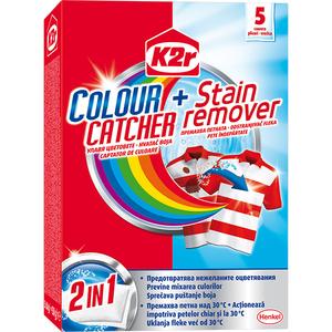 Aditiv pentru spalare K2R 2In1 Color Catcher + Stain Removal, 5 spalari