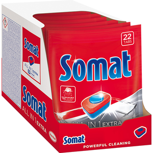 Detergent pentru masina de spalat vase SOMAT All In One Extra, 8 x 22 tablete
