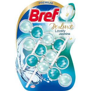 Odorizant toaleta BREF Deluxe Jasmine, 3 x 50g