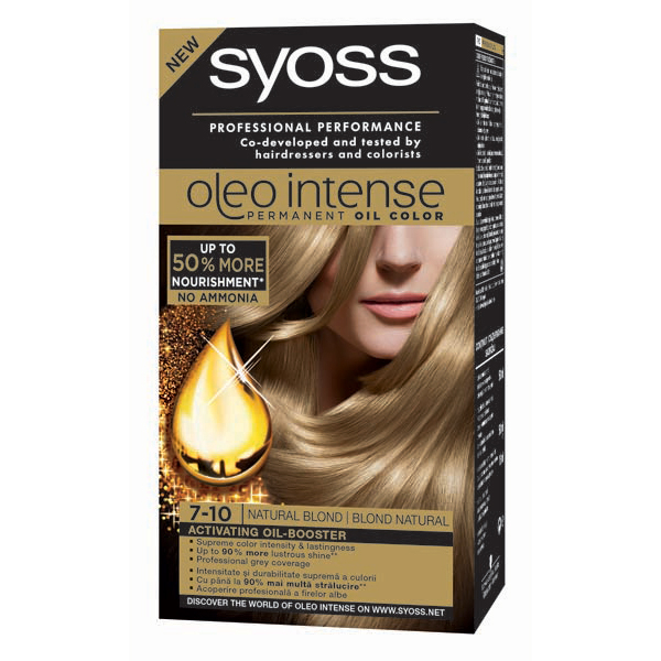 Vopsea De Par Syoss Color Oleo 7 10 Blond Natural 115ml
