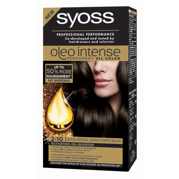 Vopsea de par SYOSS Color Oleo, 2-10 Saten Foarte Inchis, 115ml